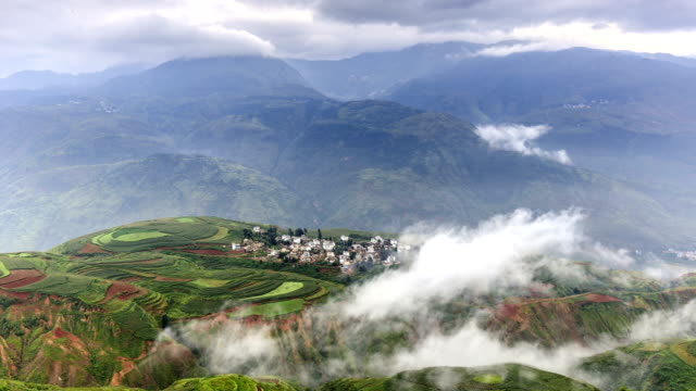 timelapse of dongchuan red earth - yunnan province stock videos and b-roll footage