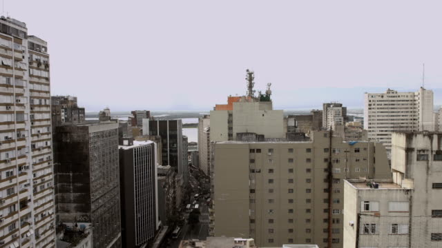 Timelapse of Downtown Porto Alegre City
