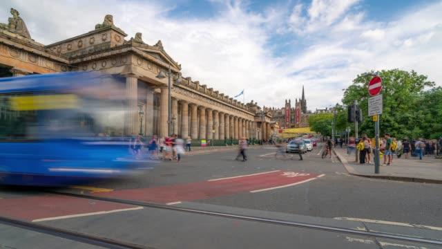 Time-lapse of Edinburgh Old Town in Scotland UK