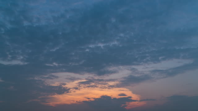 timelapse of evening cloud move toward camera - cirrocumulus stock videos & royalty-free footage