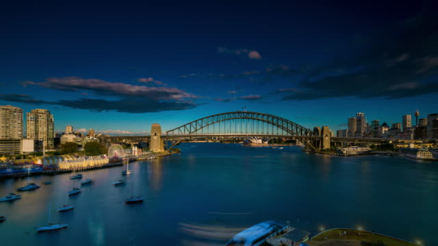timelapse of ferries docking on sydney harbour - ferry stock videos & royalty-free footage