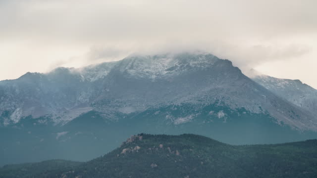 Time-lapse of first snows on Pike's Peak