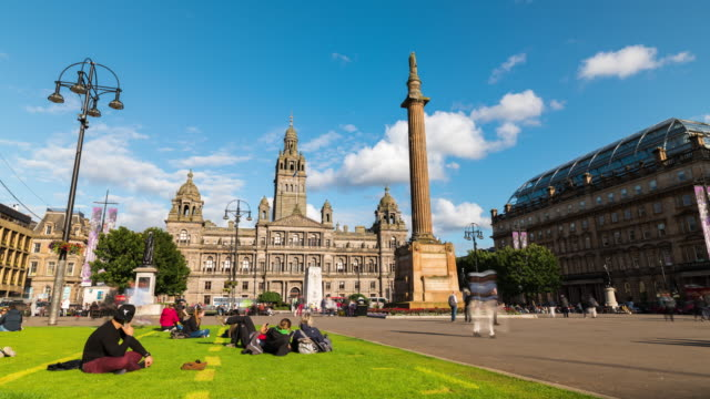 Timelapse of George Square in Glasgow