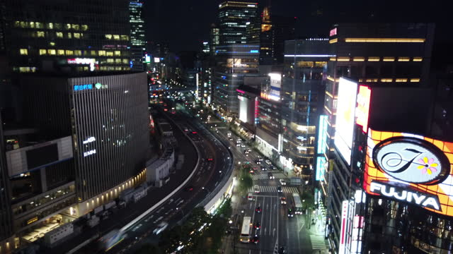 time-lapse of ginza cross - liyao xie stock videos & royalty-free footage