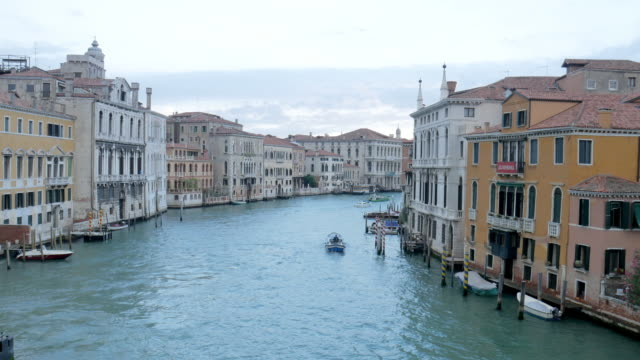 time-lapse of grand canal , venice italy - grand canal venice stock videos & royalty-free footage