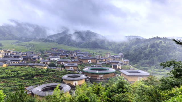 Timelapse Of Hakka Earth Buildings In Chuxi