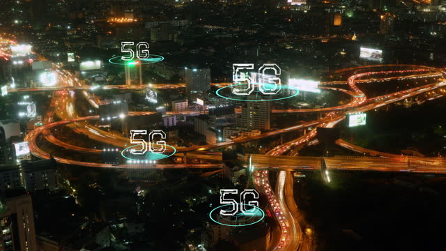 timelapse of highway to show 5g internet of things and smart city concept - organised group stock videos & royalty-free footage