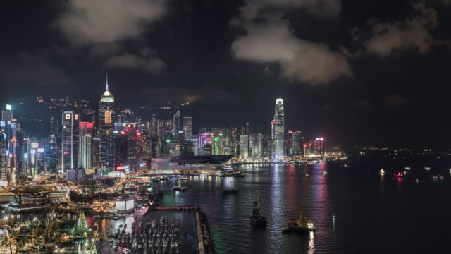 timelapse of Hong kong and Victoria Bay