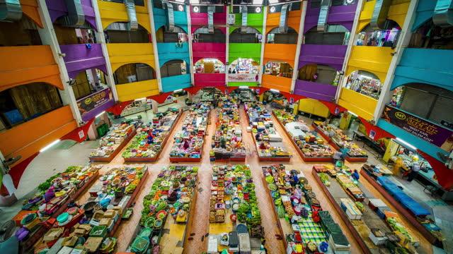 time-lapse of indoor market in kelantan - ancient stock videos & royalty-free footage