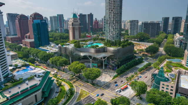 Timelapse of ION Orchard Exterior During Day with Orchard Road Traffic, Singapore