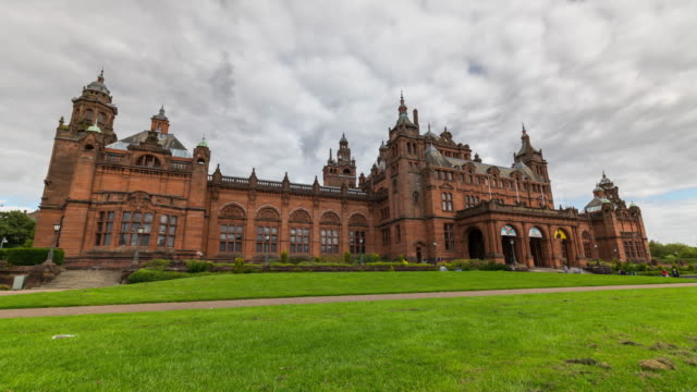 Timelapse of Kelvingrove Art Gallery and Museum in Glasgow