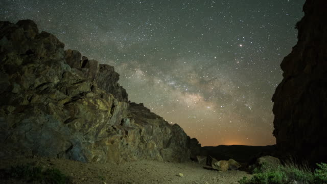 time-lapse of Kwaymii Point Pacific Crest Trail Milky Way rising