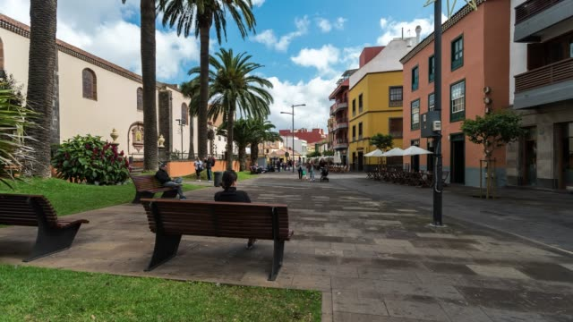 Time-lapse of La Laguna town in Tenerife