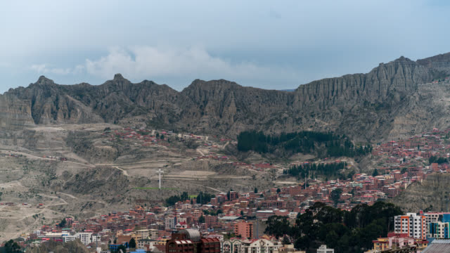 timelapse of la paz in bolivia - la paz region la paz stock-videos und b-roll-filmmaterial