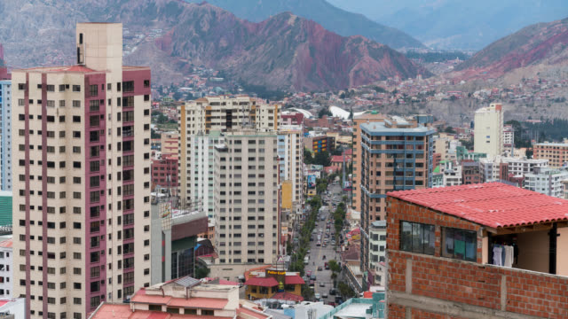 Timelapse of La Paz in Bolivia