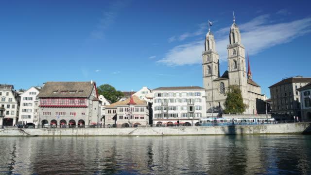 CNEUCIT1148 Time-lapse of lake in Zurich Switzerland