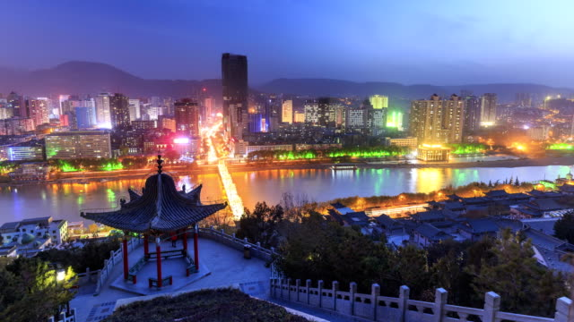 Timelapse Of Lanzhou City