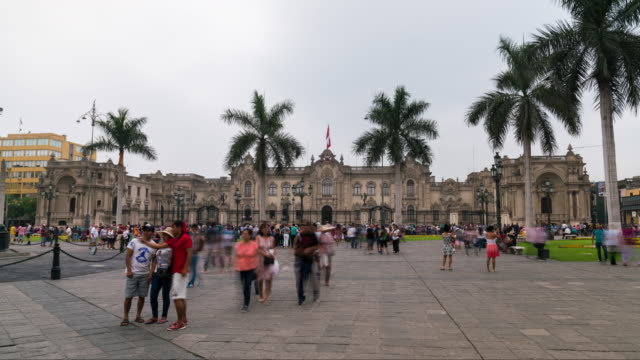 Timelapse of Lima main Square