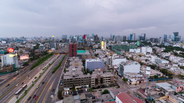 timelapse of lima skyline during sunset - colonial style stock videos & royalty-free footage