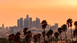 Time-lapse of Los Angeles, CA