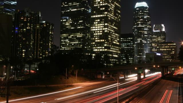 timelapse of Los Angeles freeway