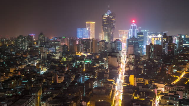 time-lapse of macau skyline aerial view macao china - macao stock videos & royalty-free footage