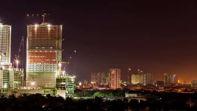 timelapse of makati city metro manilla, philippines - time stock videos & royalty-free footage