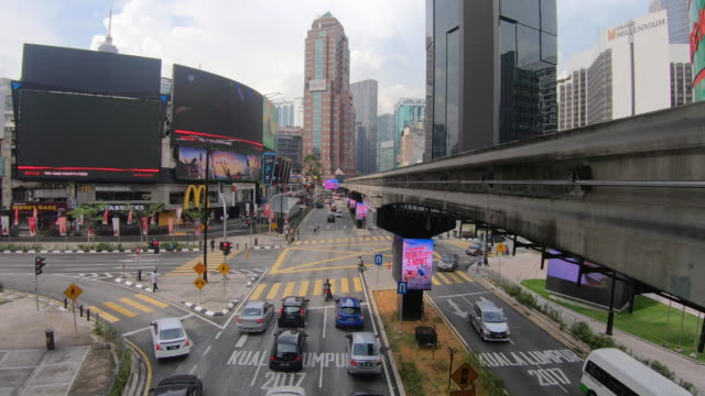 time-lapse of  malaysia city view in sunny day - kuala lumpur stock videos & royalty-free footage