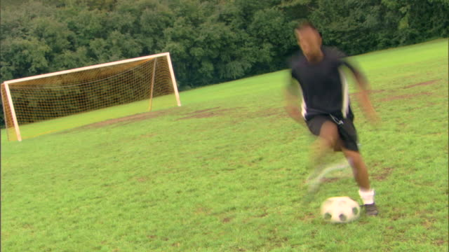 time-lapse of man with soccer ball - see other clips from this shoot 1280 stock videos & royalty-free footage