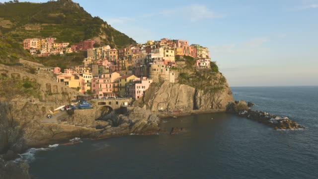 time-lapse of manarola - small group of objects stock videos & royalty-free footage
