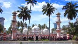 Timelapse of Masjid Jamek Kuala Lumpur Malaysia