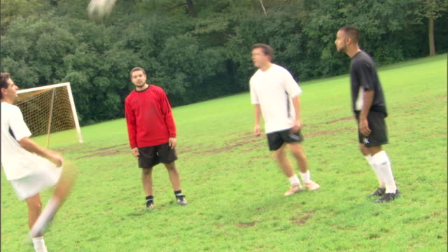 time-lapse of men heading soccer ball - see other clips from this shoot 1280 stock videos & royalty-free footage