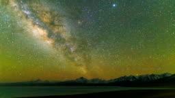 Timelapse Of Milky Way Galaxy