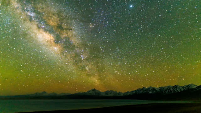 timelapse of milky way galaxy - atmospheric mood stock videos & royalty-free footage