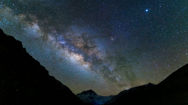 timelapse of milky way galaxy - natural landmark stock videos & royalty-free footage