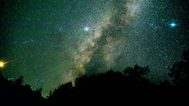 stockvideo's en b-roll-footage met timelapse van melkachtig manier in de nacht - astrologie