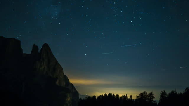 Zeitraffer der Milchstraße auf dem Berg