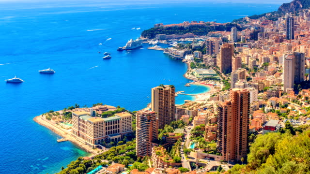 timelapse of monte carlo in summer - monte carlo stock videos & royalty-free footage