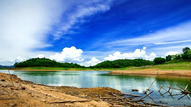 タイムラプス山と湖