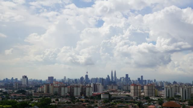Timelapse of moving cloud over Kuala Lumpur, Malaysia