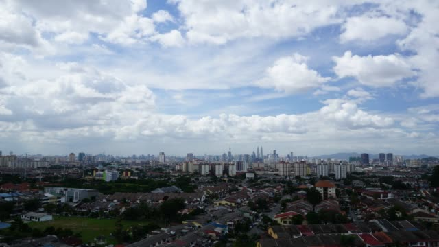 Timelapse of moving clouds in Kuala Lumpur, Malaysia