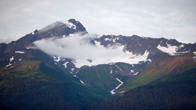 time-lapse of mt. alice, chugach national forest, seward, alaska. - chugach national forest stock videos & royalty-free footage