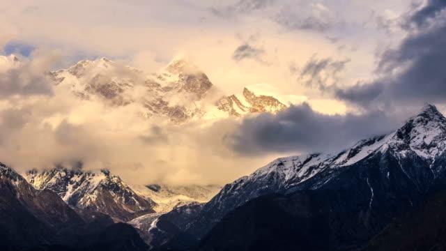 timelapse of namcha barwa - tibetan plateau stock videos & royalty-free footage