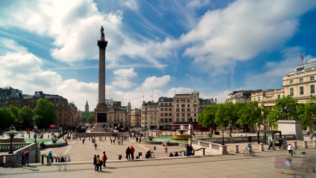 Time-lapse of Nelsons column and Trafalagar Square.