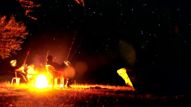 timelapse de la noche de pesca