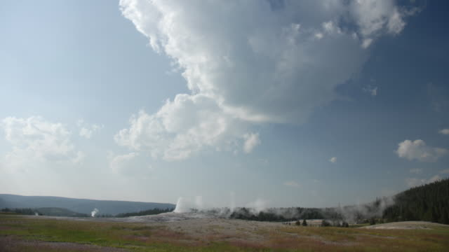 timelapse of old faithful in glacier national park - old faithful stock videos & royalty-free footage