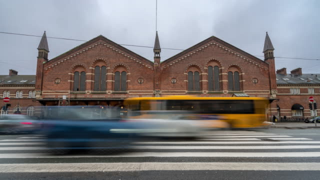 time-lapse of pedestian trabeller crowded at copenhagen train station terminal - copenhagen stock videos and b-roll footage