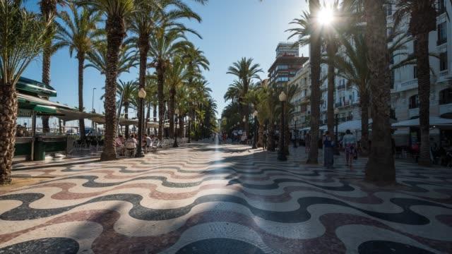 Timelapse of pedestrian street in Alicante