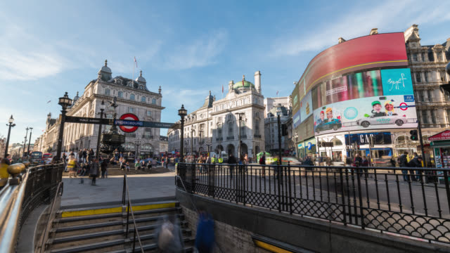 LONDON - TimeLapse of people walking in Piccadilly Circus