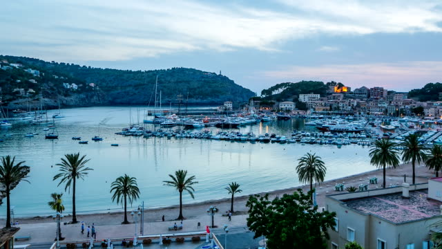 timelapse of port de soller - mallorca - exoticism stock videos & royalty-free footage